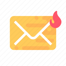 mail, message, spam, virus icon