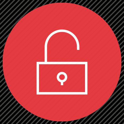 lock, locked, open, unlock icon