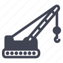 construction, crane, equipment, maintenance, tools icon