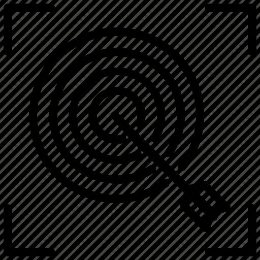 aim, archery, focus, goal, target icon