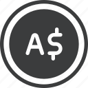 aud, australian, currency, dollar