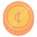 centavo, coin, currency, money icon