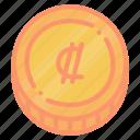 colon, costa, crc, rican icon