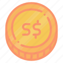 dollar, exchange, sgd, singapore icon