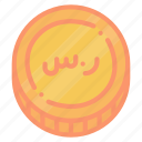 currency, riyal, sar, saudi icon
