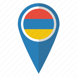 armenia, armenian, country, flag, map marker, national, pin icon