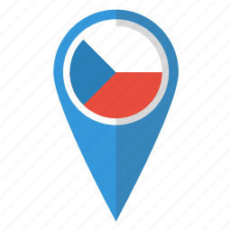 country, czech, flag, map marker, national, pin, republic icon