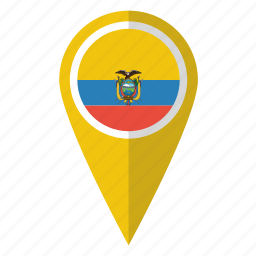 country, ecuador, flag, map marker, national, pin, pointer icon