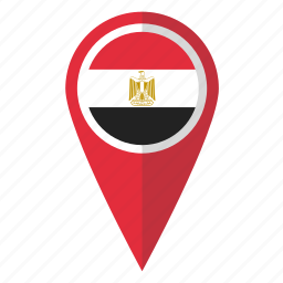 country, egypt, egyptian, flag, map marker, national, pin icon