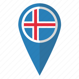 country, flag, iceland, icelandic, map marker, national, pin icon