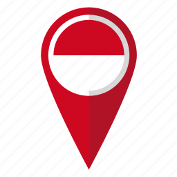 country, flag, indonesia, indonesian, map marker, national, pin icon