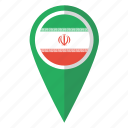 country, flag, iran, irani, iranian, map marker, pin icon