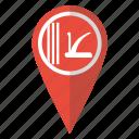 flag, jammu, kashmir, kashmiri, map marker, pin, pointer icon