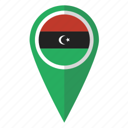 country, flag, libya, libyan, map marker, national, pin icon