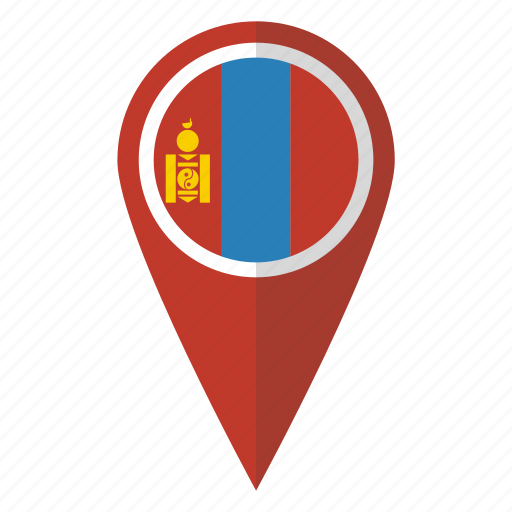 country, flag, map marker, mongolia, mongolian, national, pin icon