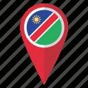 flag, namibia, pin, map icon
