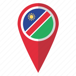 country, flag, map marker, namibia, namibian, national, pin icon