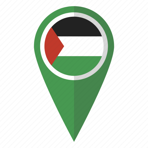 country, flag, map marker, national, palestine, palestinian, pin icon