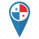 country, flag, map marker, national, panama, panamian, pin icon