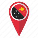 country, flag, guinea, map marker, new, papua, pin icon