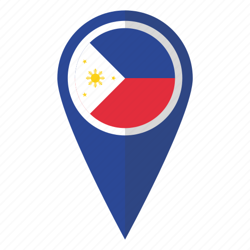 country, filipino, flag, map marker, national, philippines, pin icon