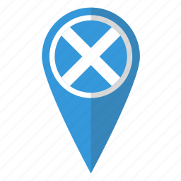 country, flag, map marker, national, pin, scotland, scottish icon