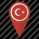 flag, pin, turkey, map icon