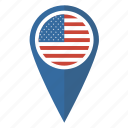 map, pin, flag, america