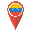 country, flag, map marker, national, pin, venezuela, venezuelan icon