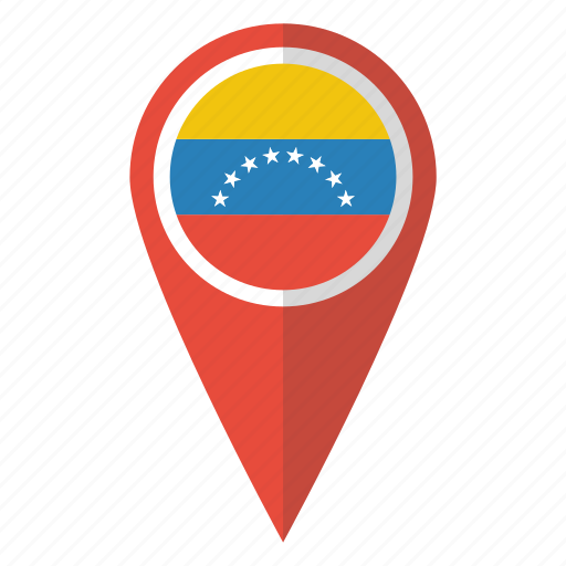 Major world flag pins by vignesh p country flag map marker national pin venezuela venezuelan icon gumiabroncs Images