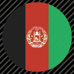 afghan, afghani, afghanistan, country, flag, national icon
