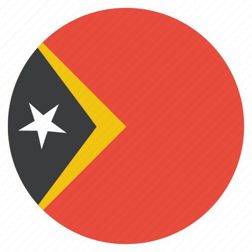 country, east, flag, national, timor, timorean icon