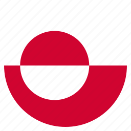 country, flag, greenland, national icon