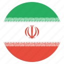 country, flag, iran, iranian, national icon