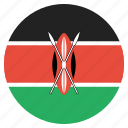 country, flag, kenya, kenyan, national icon