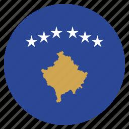 country, flag, kosovo, national icon