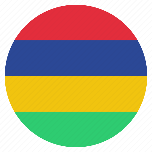 country, flag, mauritius, national icon