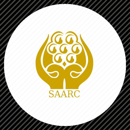 asia, asian, flag, organization, saarc, south asian icon