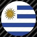 country, flag, national, uruguay, uruguayan icon