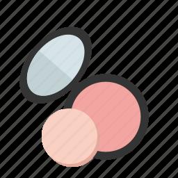 and, eye shadows, make-up, mini, mirror, powder, styling icon