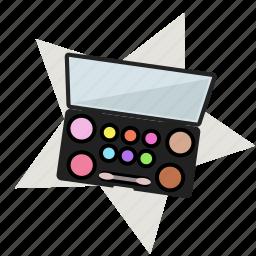 and, color, eye, eye shadows, mirror, powder, star icon