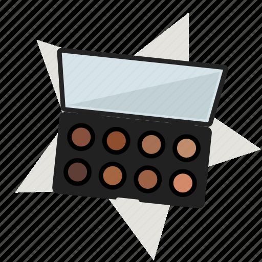 cosmetics, eye shadow, eye shadows, make-up, mirror, powder, star icon