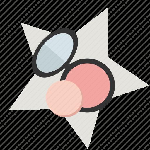 Eye shadows, make-up, mirror, powder, star, styling, women icon - Download on Iconfinder