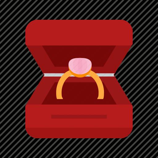 box, diamond, engagement, gift, jewel, ring, wedding icon