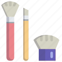 beauty, brush, makeup, paint icon