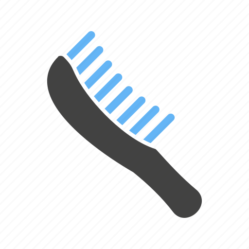 brush, comb, hair, hairbrush, human, object, people icon