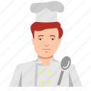 boy, cook, food, ginger, headshot, male, man icon