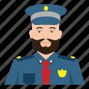 beard, boy, headshot, male, man, police