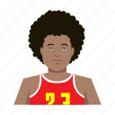 afro, basketball player, guy, headshot, male, man, sport outfit