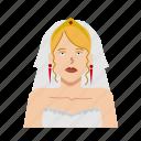 bride, female, girl, headshot, marriage, woman